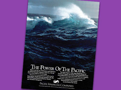 In 1986, the company launched a new advertising campaign, highlighting the Power of the Pacific.