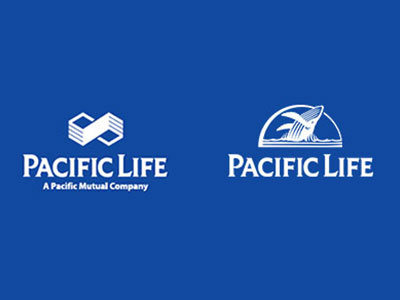 Although it immediately began using the whale as an icon in 1997, Pacific Life continued to use its existing infinity logo (left) until 1999. That year, the company unveiled its current whale logo.