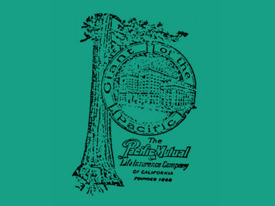 The 1923 logo featuring the company headquarters with the Wawona tree standing behind it.